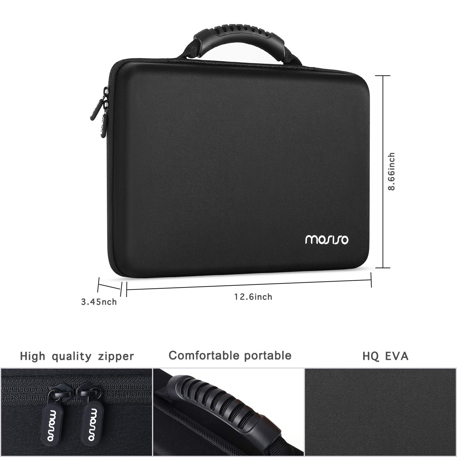 Hard EVA 140 Batteries Container Holder Carrying Case Bag for AA AAAA C D 9V 3V Lithium Button Cell with Battery Tester BT-168 Batteries Not Included Black MOSISO Battery Organizer Storage Box