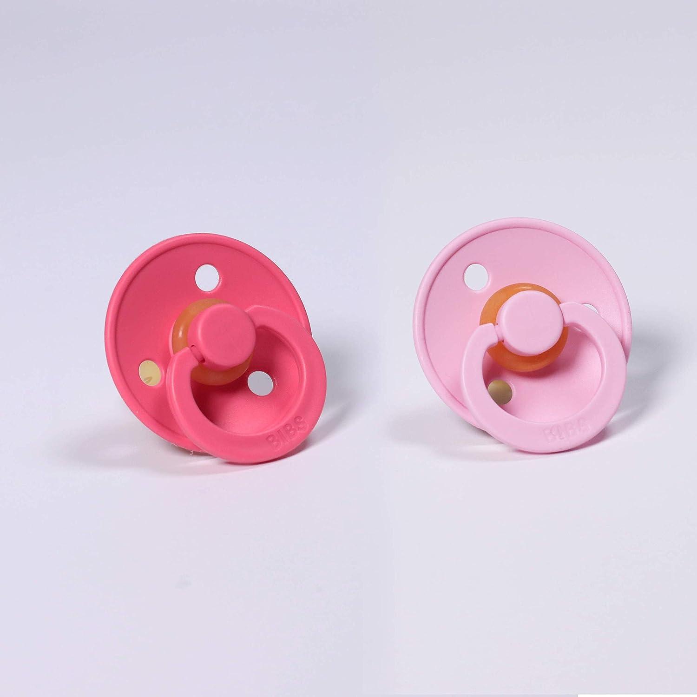 6-18 Months, Blush//Dusky Lilac BIBS Dummies//Pacifiers//BPA Free