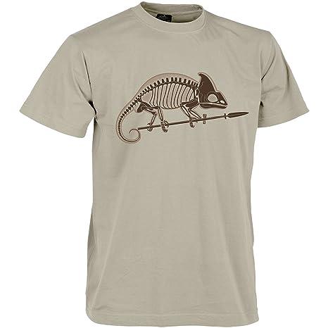 Helikon Hombres Chameleon Skeleton Camiseta Khaki tamaño 3XL ...