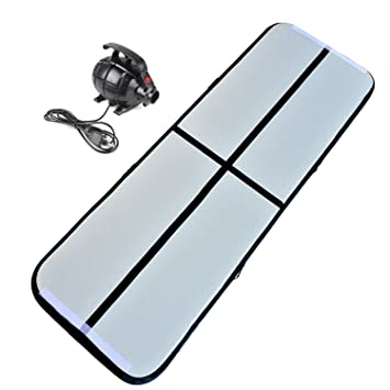 Cotogo 3x1x0.1M/3x0.9x0.1M inflable Airtrack Tumbling Gymnastic/Yoga/Taekwondo/agua flotante/alfombra de entrenamiento que acampa con 500W bomba ...
