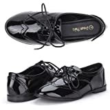 DREAM PAIRS LEXINGTON Women's New Casual Nubuck Upper Cut-Out Lace Up Oxford Flats Shoes
