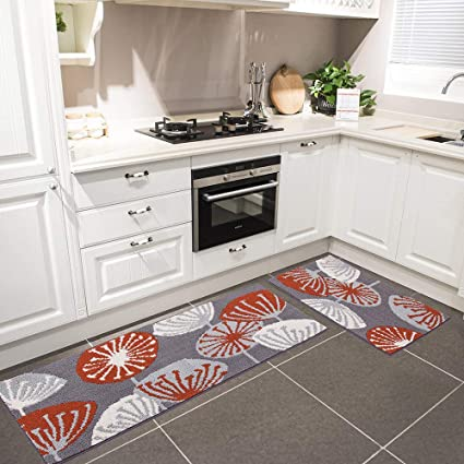 Amazon Com Hebe Kitchen Rugs Set Of 2 Non Slip Kitchen Mat Rug