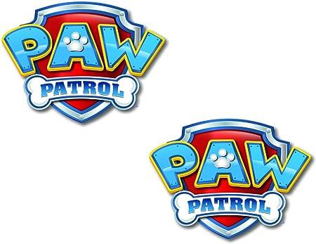 2 x Paw Patrol Logo SIGN Cupcake Edible Paper Cake Topper Decoration