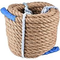 Aeloa Jute Twine-Jute Touw 20mm Klimmen Jute Touw Duurzame Tug-Of-Oorlog Touw Bundelen String Jute Touw Outdoor Sport