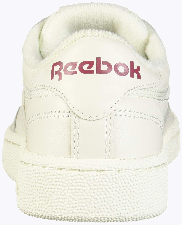 Reebok Men's Club C 85 Sneaker, ChalkMeteor red, 5 M US