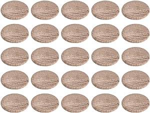 uxcell Wood Button Plugs 1 Inch Oak Hardwood Screw Hole Furniture Plugs 25 Pack