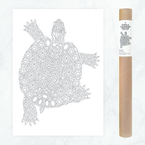 Coloriage Adulte Tortue.50x70cm Tortue Marine Adulte Coloriage Geant Affiche A Colorier