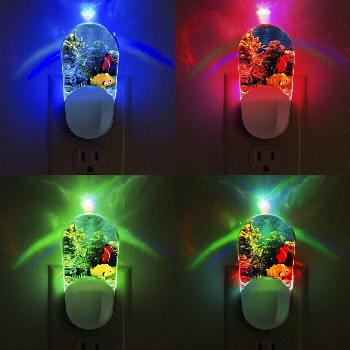 Aqualites 10908 Tropical Fish LED Night Light, Plug-In, Color ...