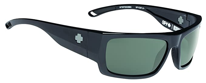 8495e8e0db Amazon.com  Spy Optic Rover Square Sunglasses Black Ansi Happy Gray ...