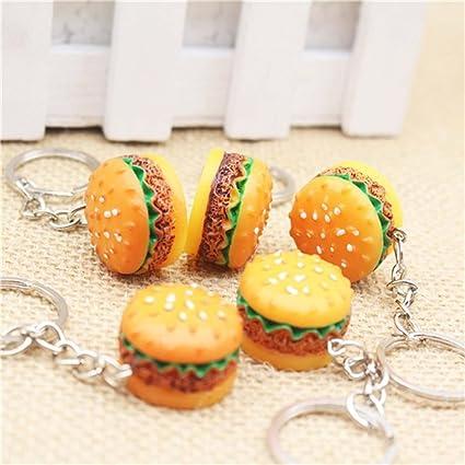 Jewelry Sets & More Key Chains Cute Simulation Food Hamburger Pendant Key Ring Hamburger Keychain Novelty Key Chain Christmas Birthday Gift