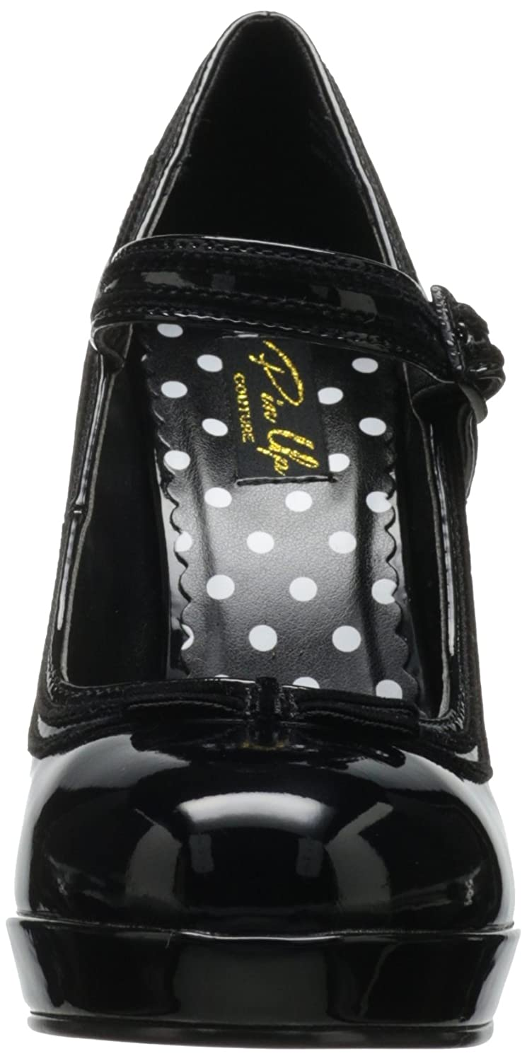 Pin Up Couture SECRET-15 Blk Blk Blk Pat UK 2 (EU 35 ) - 349239