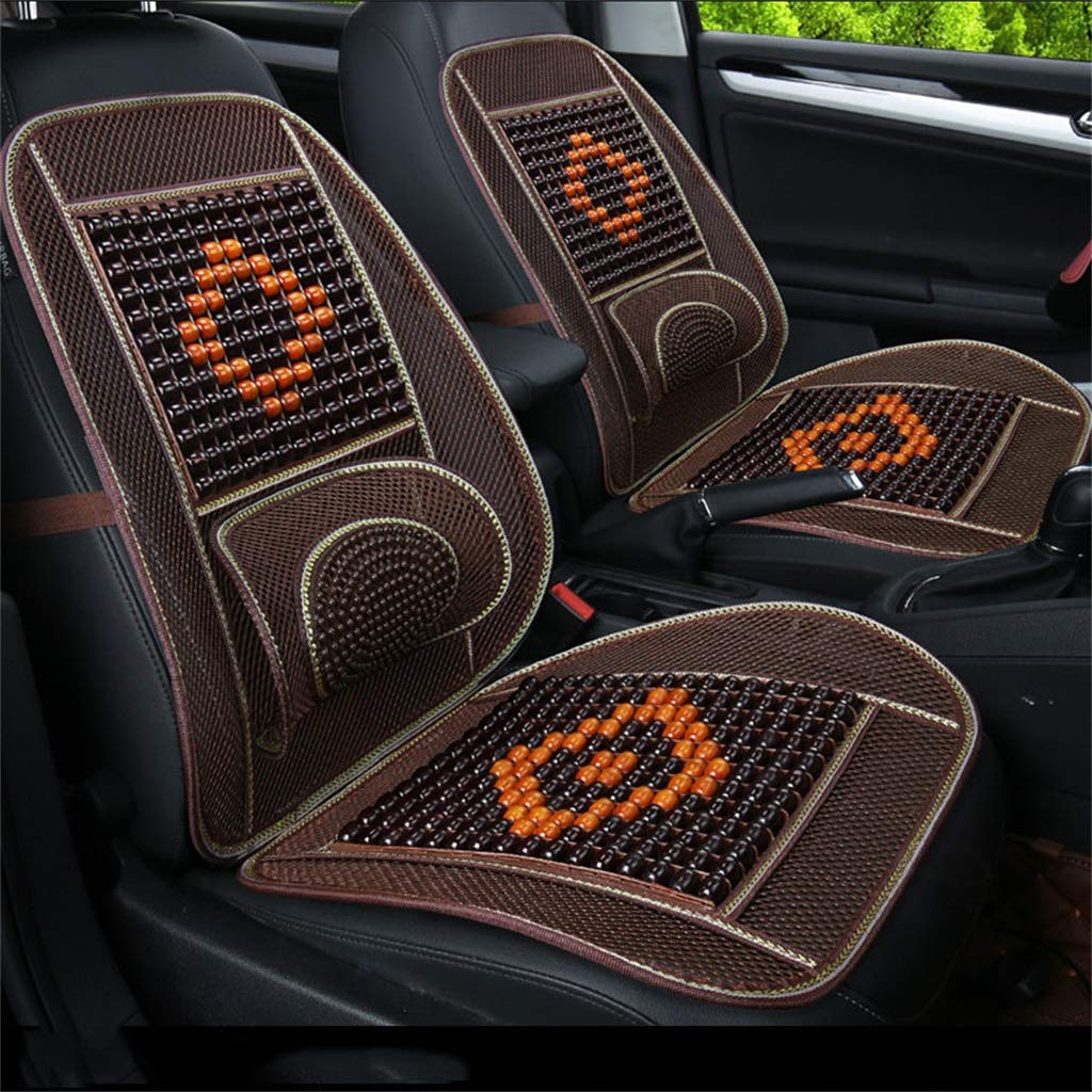 E Wood Beaded Seat Cushion Summer Breathable Seat Cover Anti-Slip Car Interior Seat Chair Pad Cushion(One Pack)