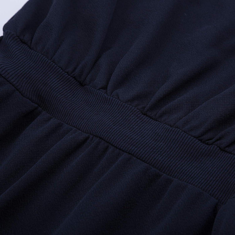 GRACE KARIN Vestito a Matita Donna con Cintura Scollo a V Senza Manica con Cintura Stringere La Vita
