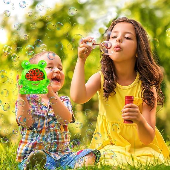 Máquina Sopladora de Burbujas para Niños - Máquina Sopladora de Burbujas con Alto Rendimiento Fácil de Usar y Duradera para Toneladas de Diversión Dentro y ...