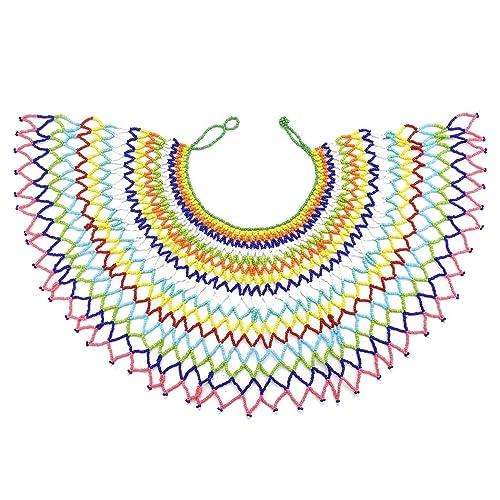 Idealway - Collar Cuentas de zulú, Estilo Maasai sudafricano ...