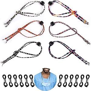 Face Mask Lanyard, 18Pcs Adjustable Eyeglass Holder Strap Sunglass Cord for Men Women Kids Boys Girls Elderly