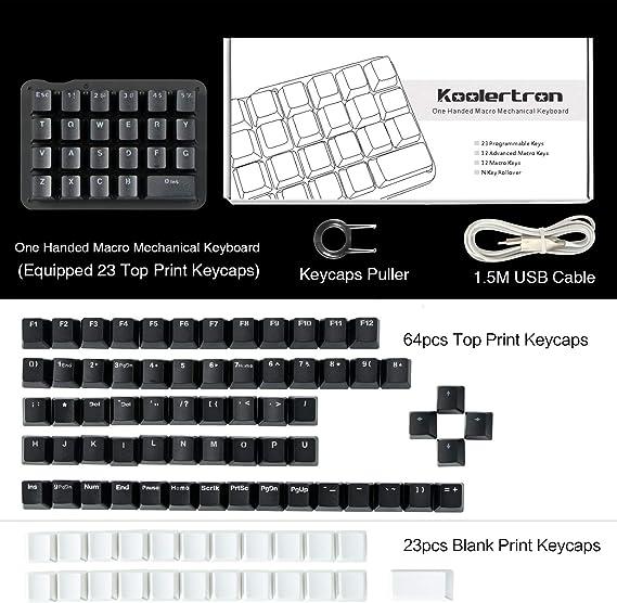 Teclado mecánico macro con una sola mano, mini teclado de ...
