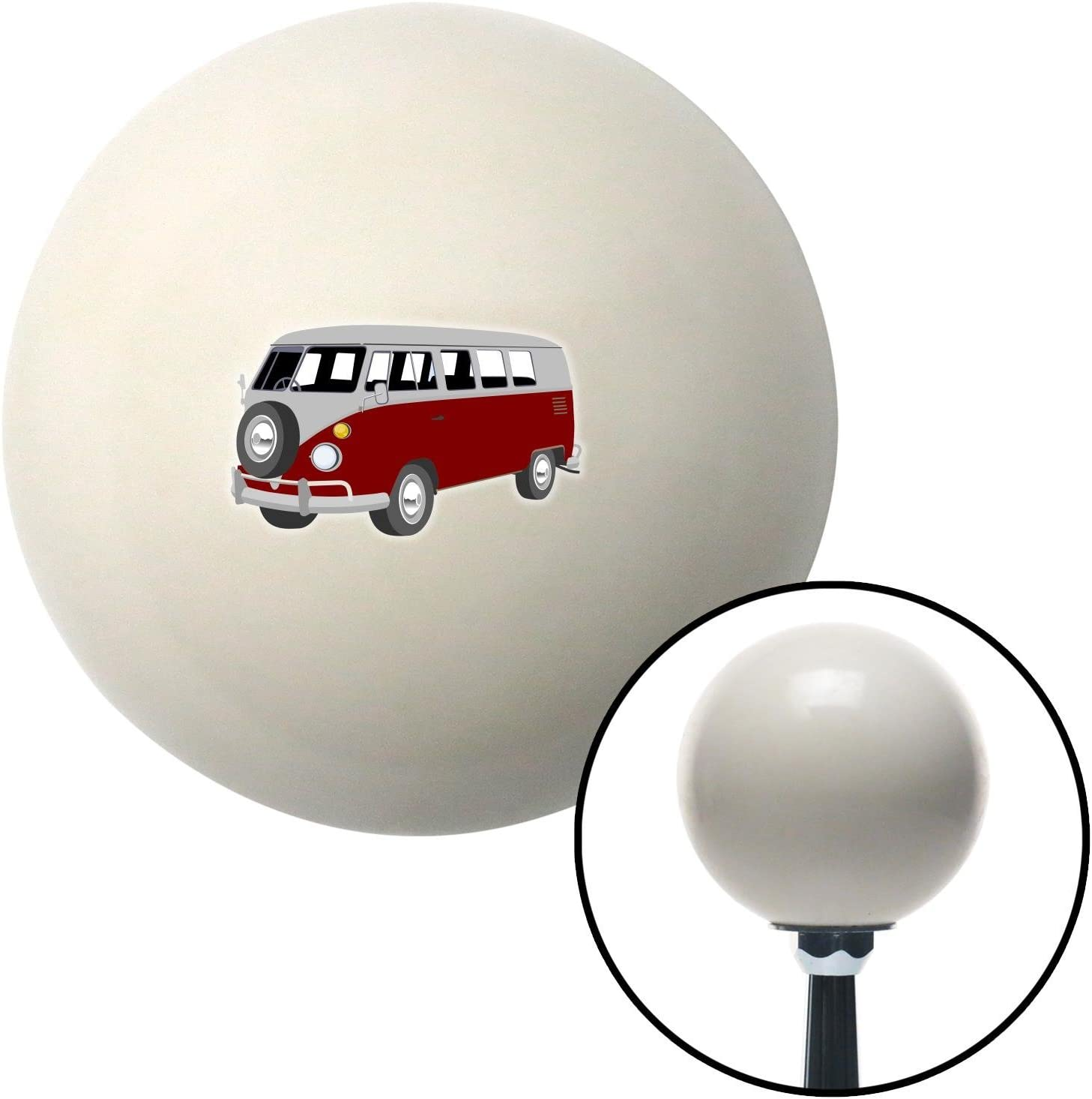 American Shifter 77357 Ivory Shift Knob with M16 x 1.5 Insert Red Camper