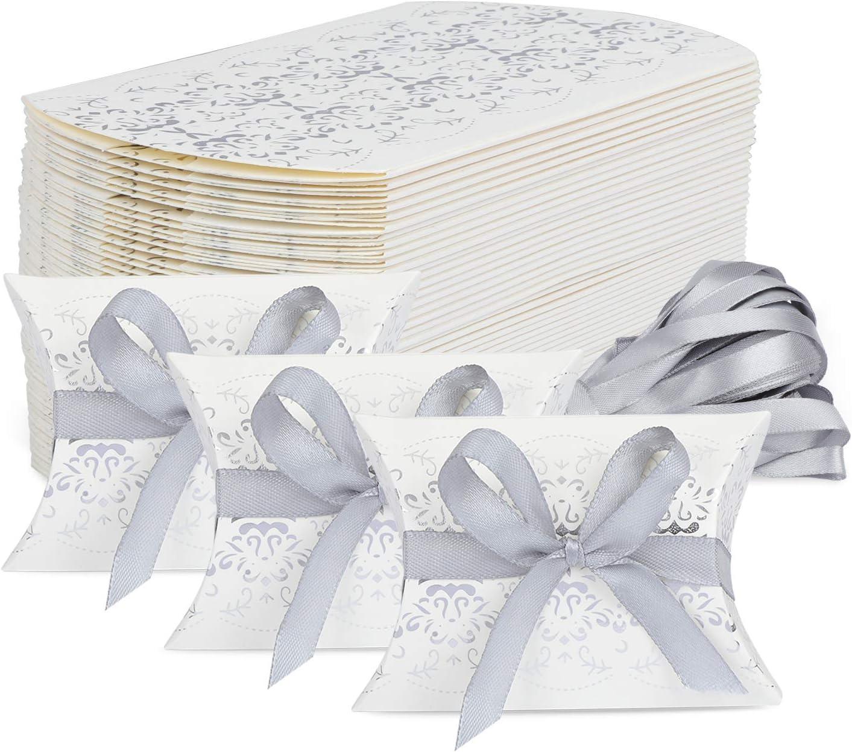 TsunNee - Caja de papel de regalo para bodas, caja de regalo de papel kraft Style 2