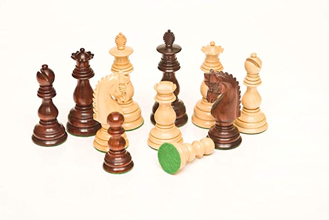 168 Bud Rosewood & Boxwood 3.75 Chess Set