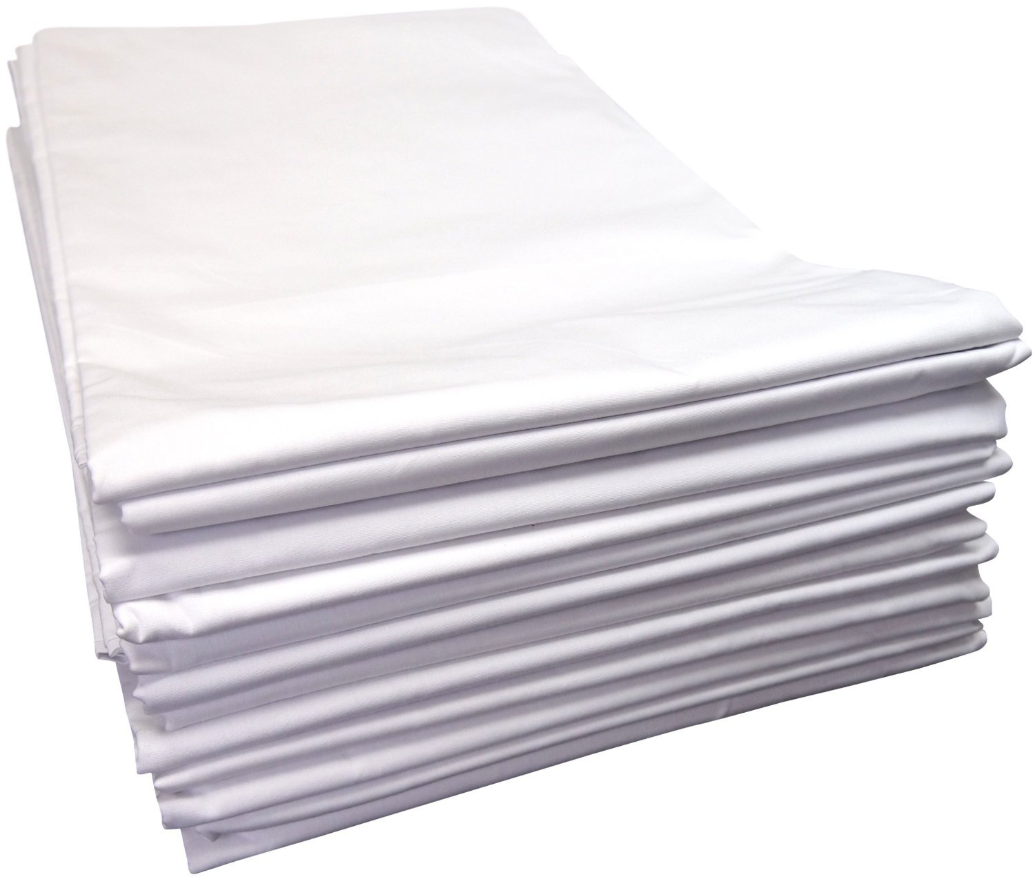 Linteum Textile Supply SPA & MASSAGE TWIN FLAT SHEETS 250 Thread Count 66x108 in. 12-Pack White