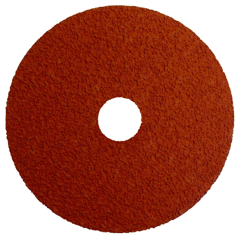 Weiler 69880 Tiger Ceramic Alumina Resin Fiber Sanding /& Grinding Disc 4-1//2 Diameter 5//8-11 Hub 24 Grit Pack of 25