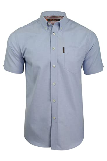 Mens Oxford Shirt By Ben Sherman Short Sleeved Amazon Co Uk Clothing
