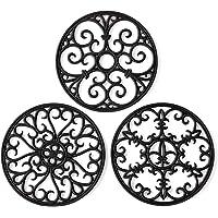 Silicone Trivet Mat - Hot Pot Holder Hot Pads for Table & Countertop - Teapot Trivet Kitchen Trivets - Non-Slip & Heat…
