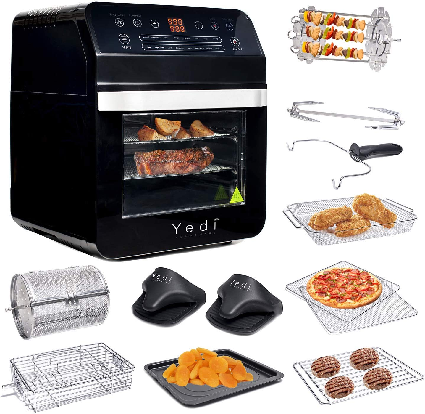 Amazon Com Yedi Total Package Air Fryer Oven Xl 12 7 Quart