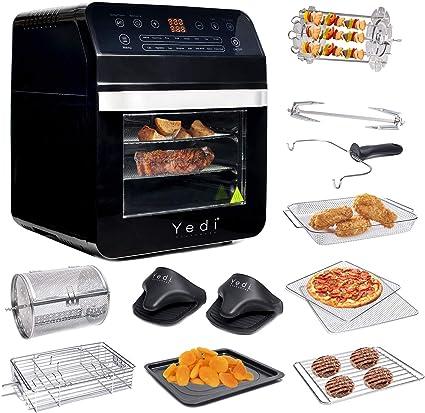 Yedi Houseware paquete total de freidora de aire horno, 12.7 ...