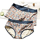 THSISSUE Couples Matching Underwear, Modal Couples Briefs for Boy/Girl Friend