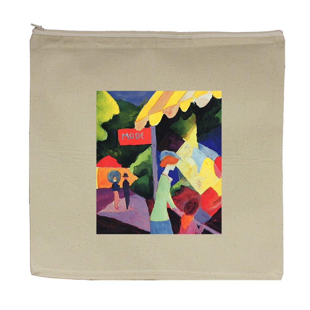 Fashion Window (Macke) Canvas Zipper Tote Bag Makeup Bag