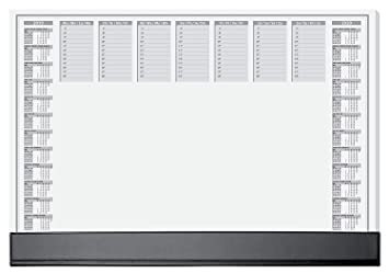 SIGEL HO365 Papier-Schreibunterlage mit Schutzleiste, 2-Jahres-Kalender, ca. DIN A2 , 40 Blatt