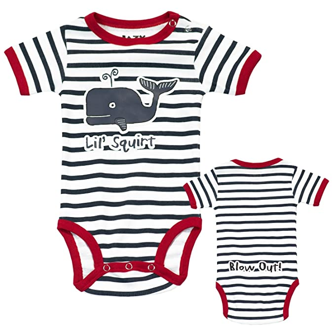LazyOne Unisexo Lil Squirt Whale Mameluco Bebé 12 Meses