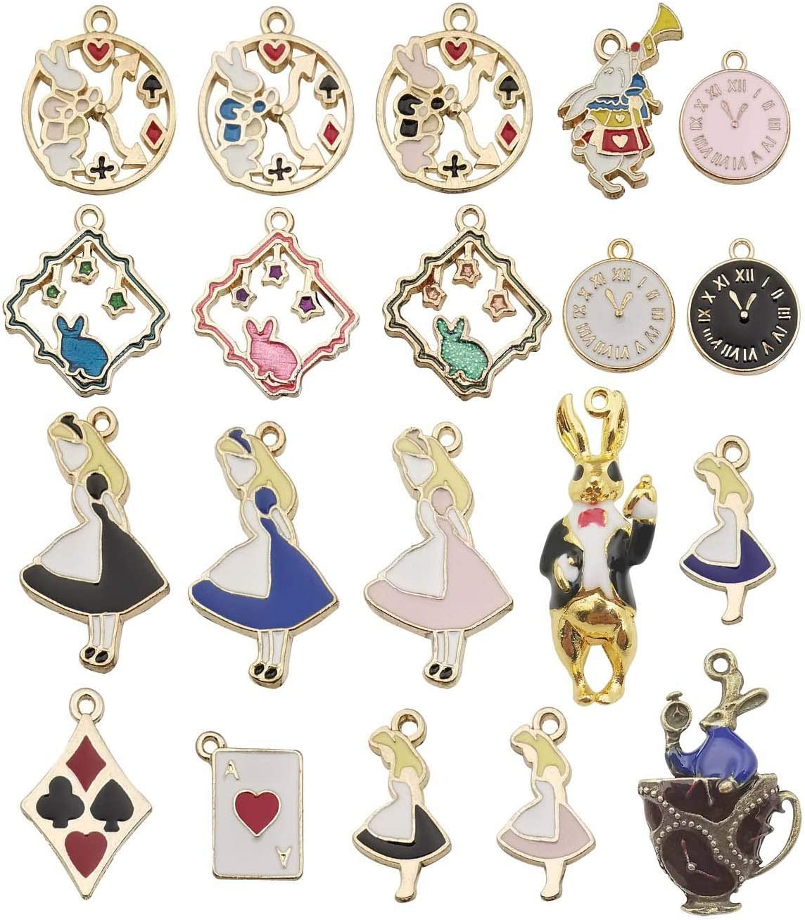 DIY Jewelry Making Pendants Plated Enamel Necklace Bracelet Mixed Accessories