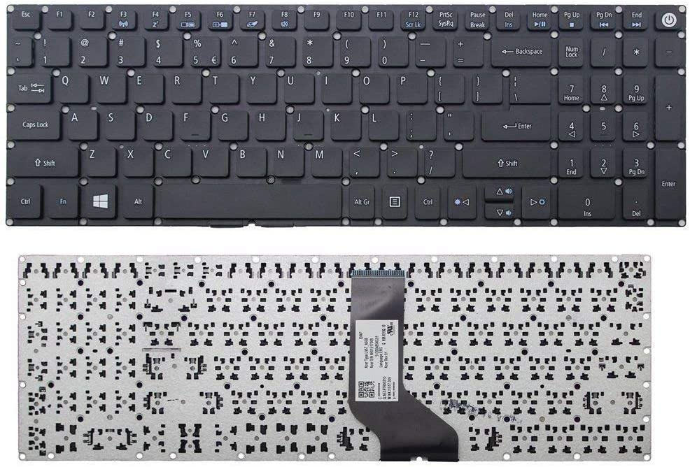 New US Black English Laptop Keyboard (Without Frame) Replacement for Acer Aspire 5 A515-51 A515-51G A515-51G-89AT