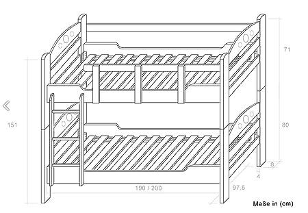 Adulto Litera 90 x 200: Amazon.es: Bricolaje y herramientas