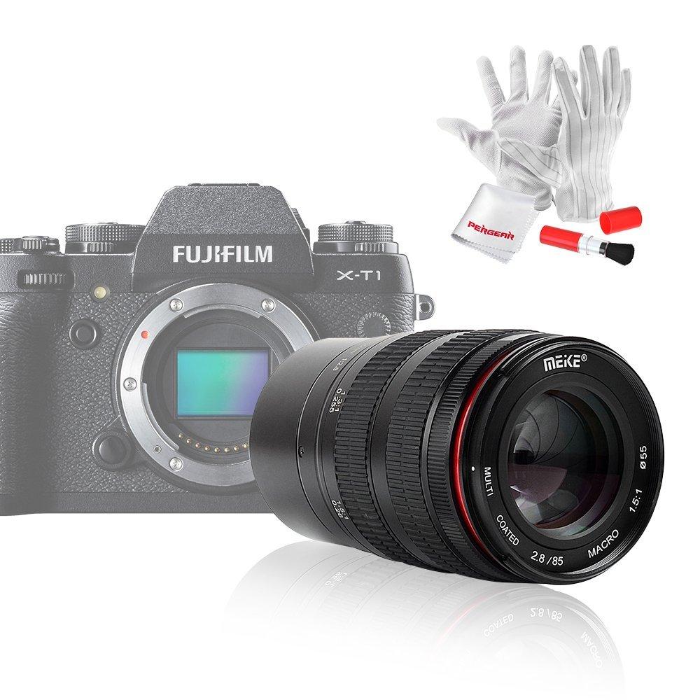 Meike MK-85mm F/2.8 マイクロカメラ単焦点レンズ 対応機種選択可能 1年保証 (Fuji Xマウント) Fuji Xマウント  B076NF9RF2