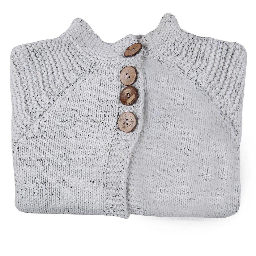 Amazon.com: DEESEE(TM))))))))) Toddler Baby Girls Outfit Button Knitted Sweater Cardigan Coat Tops for 2-8 Years Old: Clothing