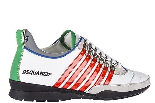 classic fit 7bea0 b40b9 dsquared Scarpe Uomo Sneaker 251 S17SN131 1102 M244 Bianco ...