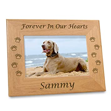 Amazoncom Etched In My Heart Pet Memory Frame Personalized Dog