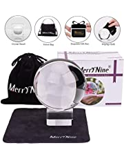 "MerryNine Photograph MerryNine Crystal Meditation Ball Globe, Crystal Ball with A Stand, K9 Crystal Suncatchers Ball, Home Decoation Ornaments, Photography Accessory (80mm/3.2"" with Led Stand)"