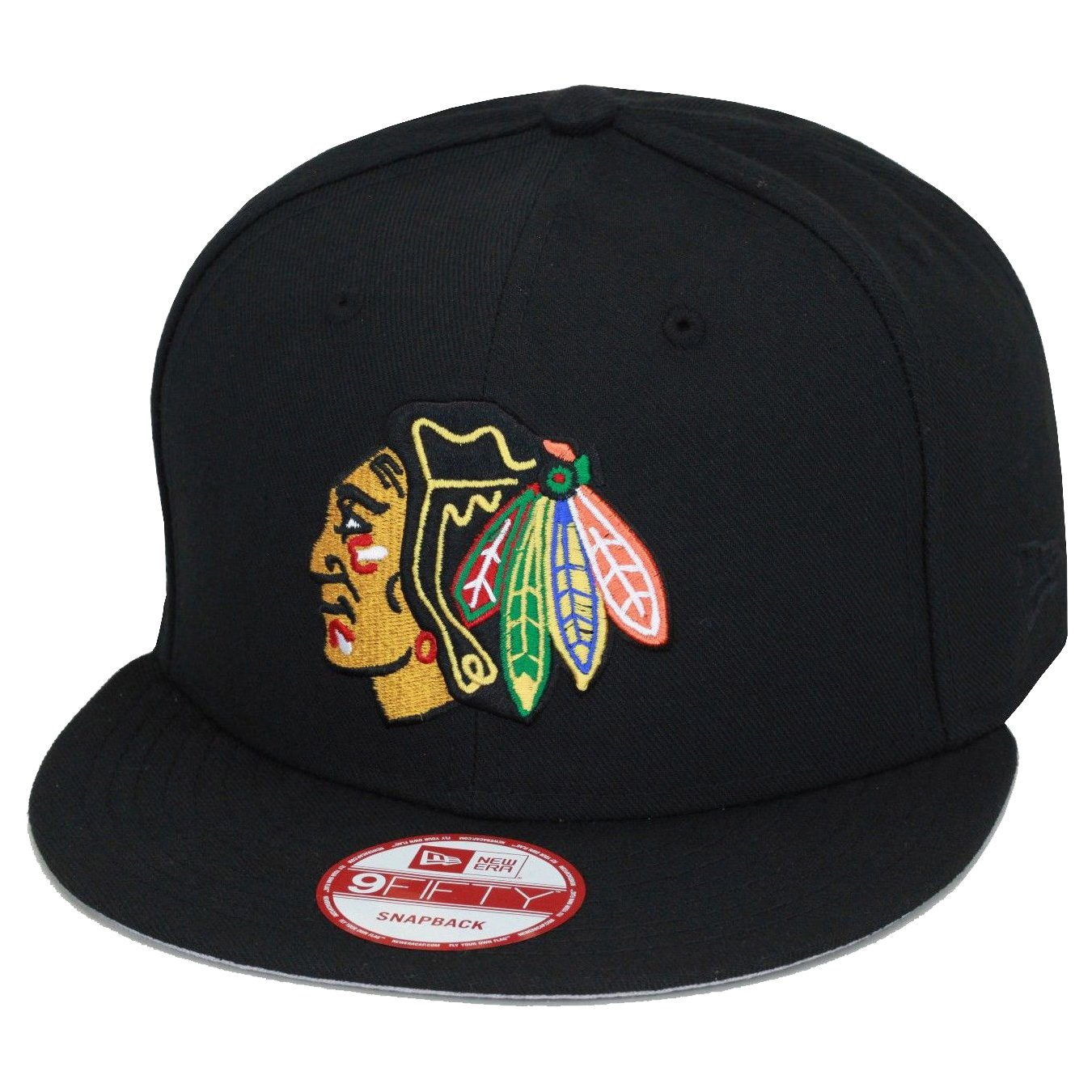 New Era 9 Fifty Chicago blackhakwsスナップバック帽子キャップブラック/ Regular Chief NHL   B01DJO6IOA