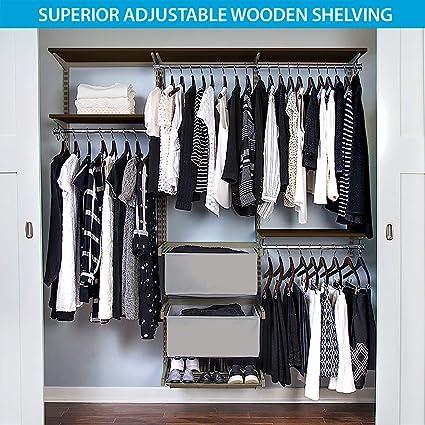 Charmant Organized Living FreedomRail Premium Adjustable Closet Kit , 72u0026quot;   76u0026quot;, ...