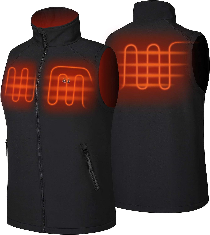 No Battery NORA TWIPS Mens Heated Vest Polar Fleece Lightweight Waistcoat
