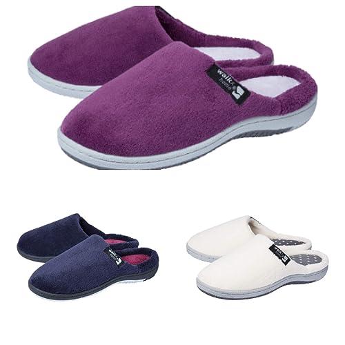 WALKX Wohlfühl Pantoffel Hausschuhe Schuhe Filzhausschuhe Pantoffeln