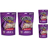 Dingo Twist Sticks Rawhide Treats, 200-Pack (4 Units of 50-Pack)