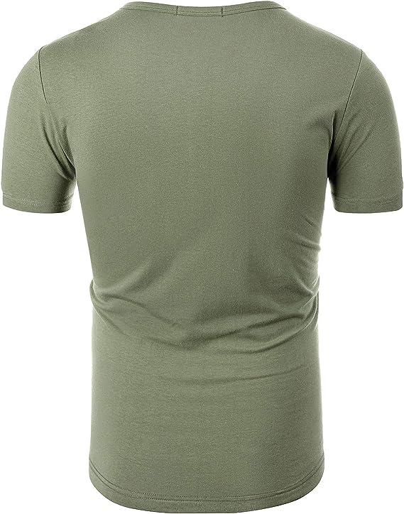 INVACHI Mens Hawaiian Flower Shirts Slim Fit Aloha Printed Short Sleeve Button Down Shirt
