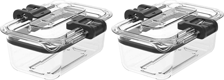 Prepara Latchlok 1 Cup Tritan Food Storage Container, Set of 2, Clear