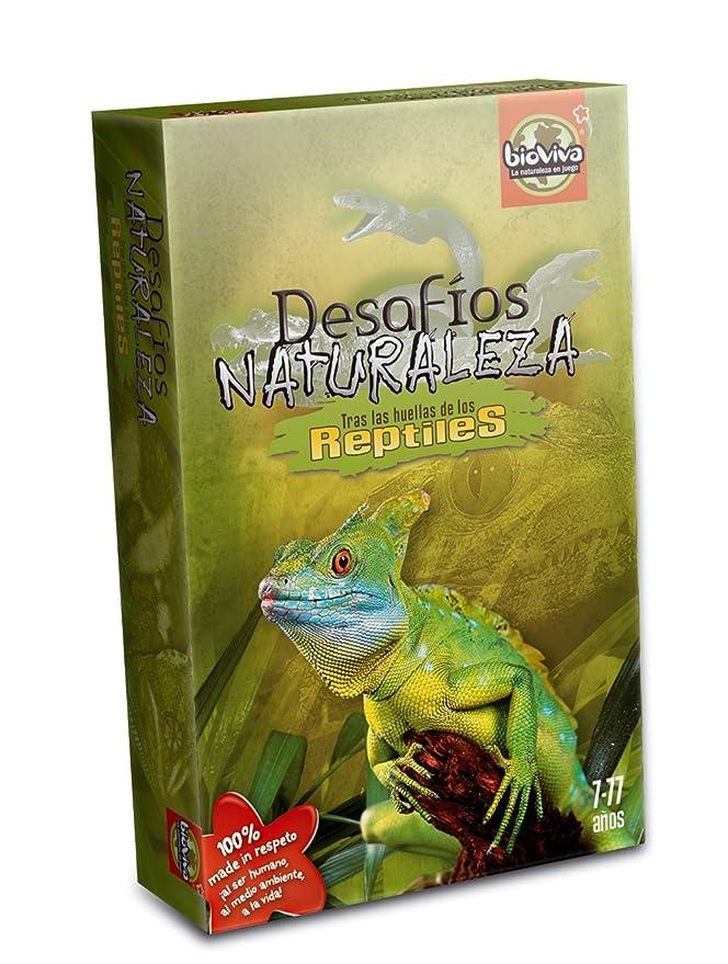 Bioviva- Juego de Cartas Desafíos Naturaleza Reptiles (Asmodee 308)